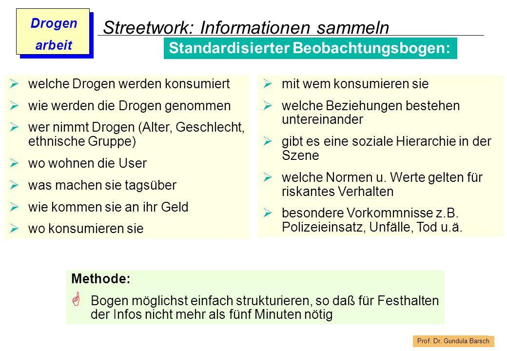 Streetwork: Informationen sammeln