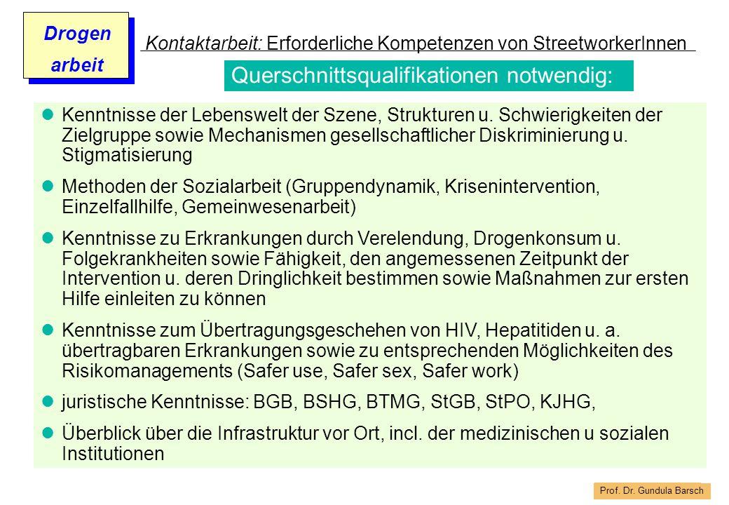 Kontaktarbeit: Erforderliche Kompetenzen von StreetworkerInnen