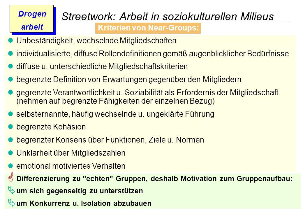 Streetwork: Arbeit in soziokulturellen Milieus