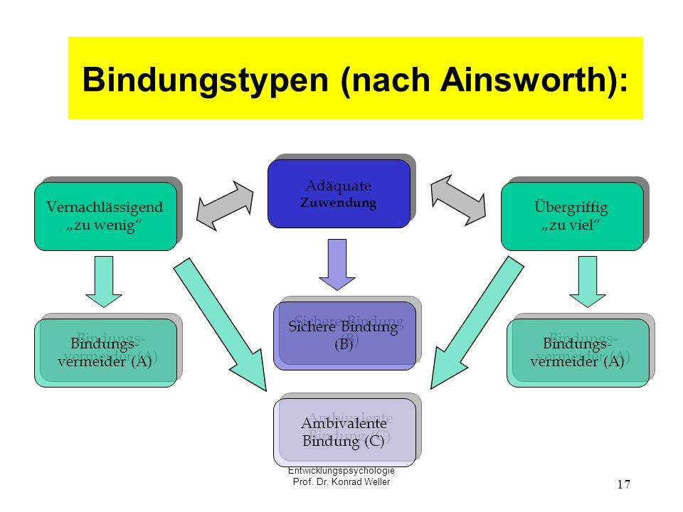 Bindungstypen (nach Ainsworth):