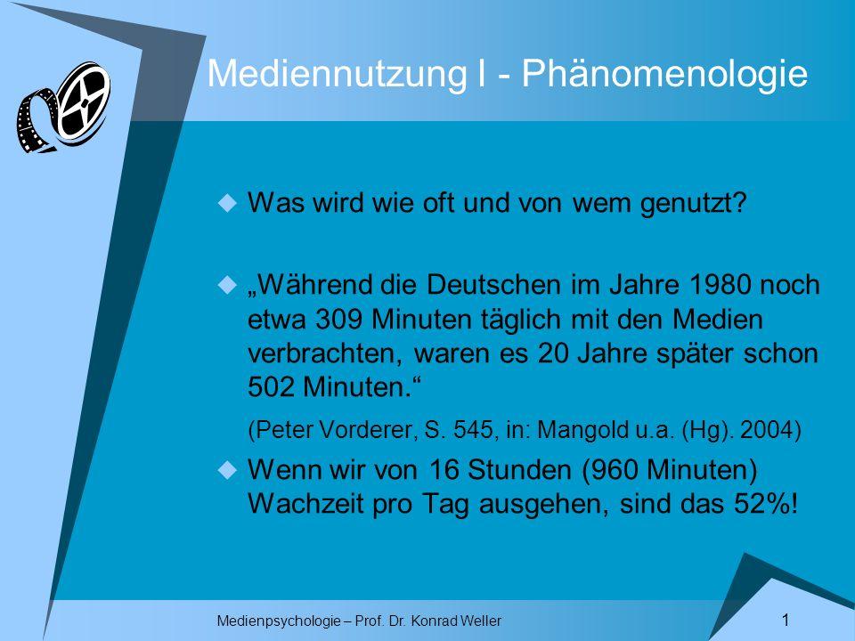 Mediennutzung I - Phänomenologie
