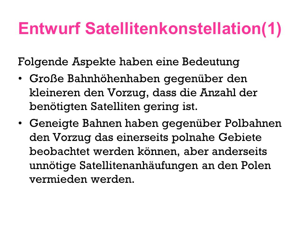 Entwurf Satellitenkonstellation(1)