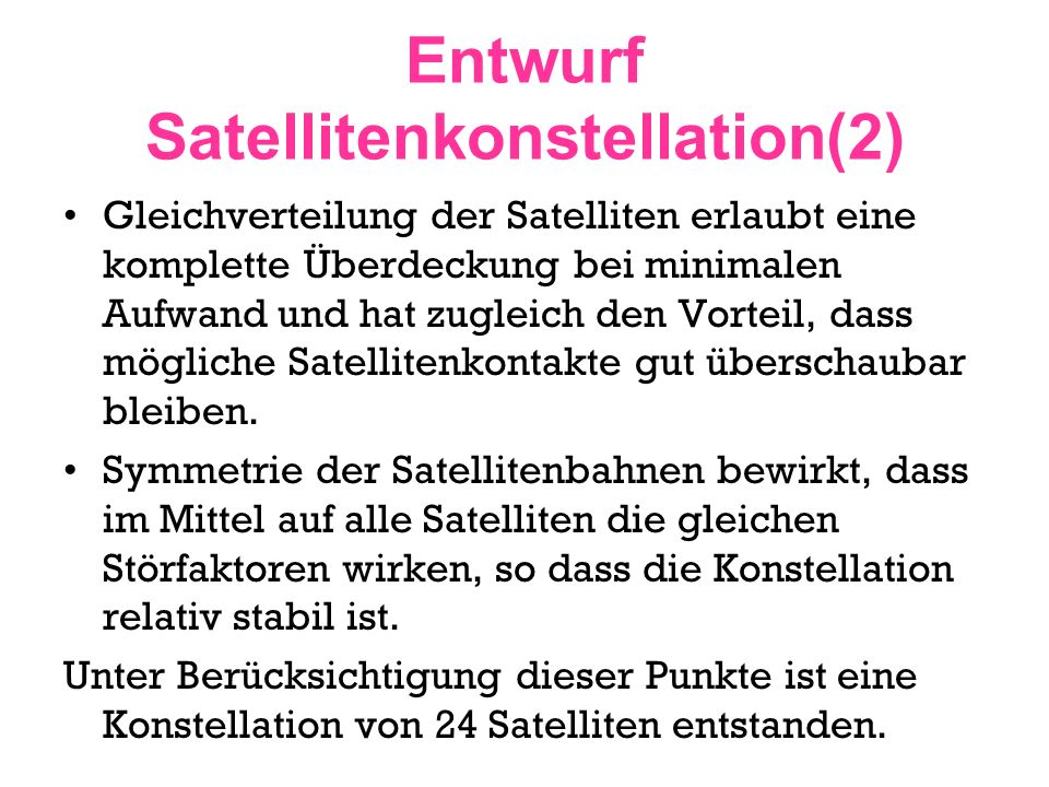 Entwurf Satellitenkonstellation(2)