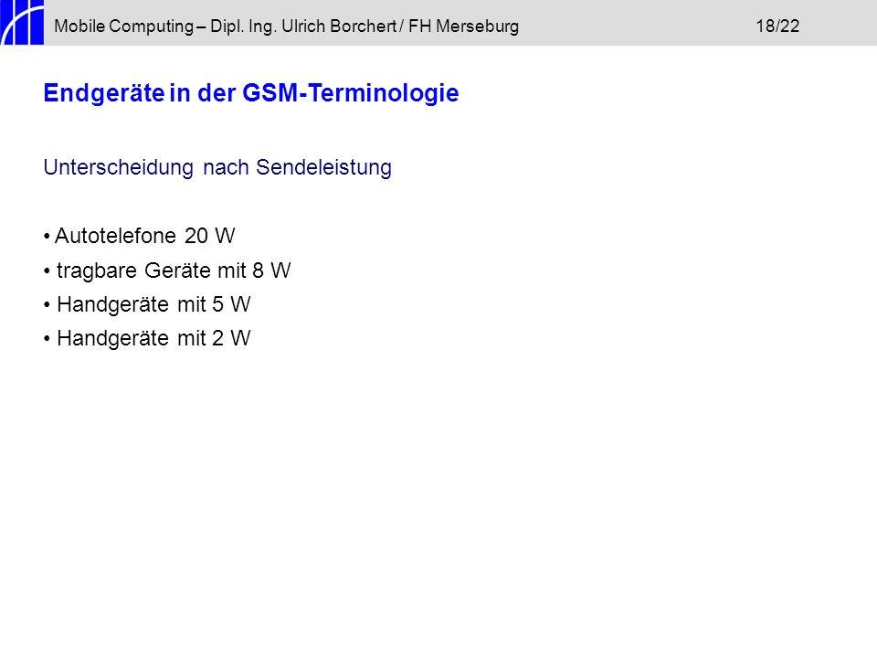 Endgeräte in der GSM-Terminologie