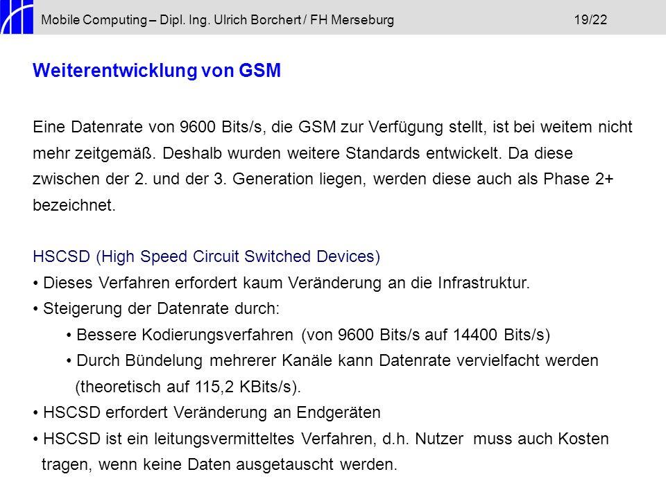 Weiterentwicklung von GSM