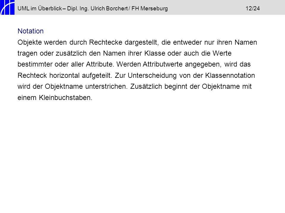 UML im Überblick – Dipl. Ing. Ulrich Borchert / FH Merseburg 12/24