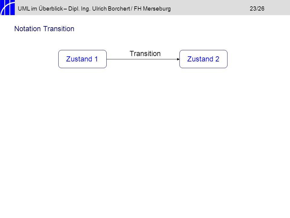 Notation Transition Transition Zustand 1 Zustand 2
