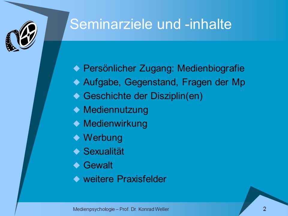 Seminarziele und -inhalte