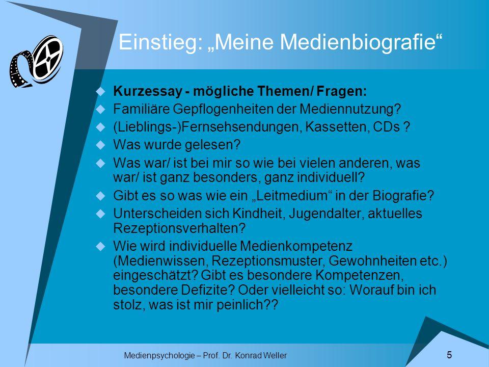"""Einstieg: """"Meine Medienbiografie"""