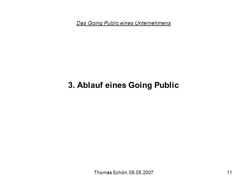 Das Going Public eines Unternehmens