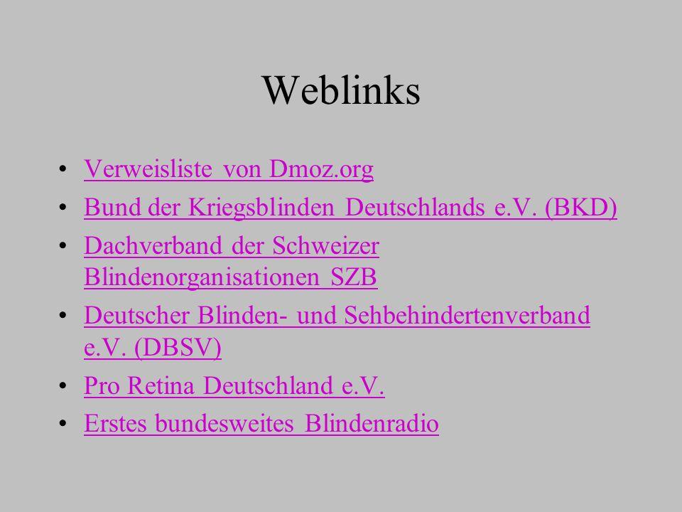 Weblinks Verweisliste von Dmoz.org
