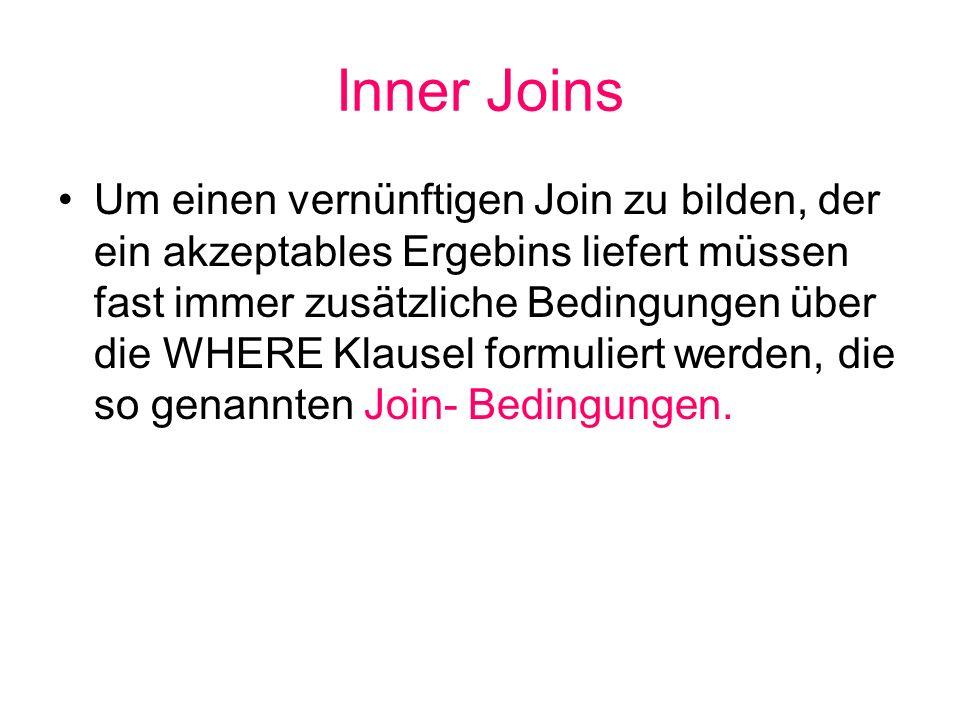 Inner Joins