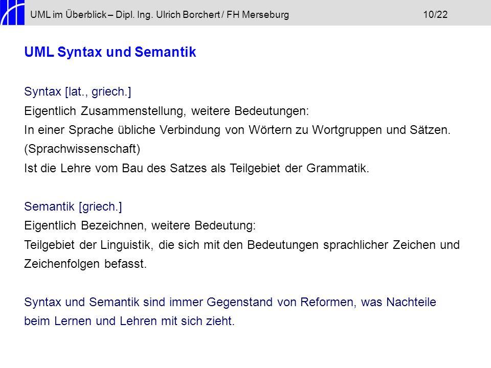 UML Syntax und Semantik