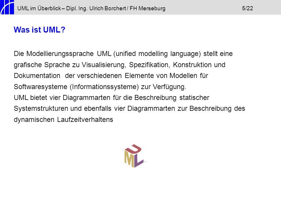 UML im Überblick – Dipl. Ing. Ulrich Borchert / FH Merseburg 5/22
