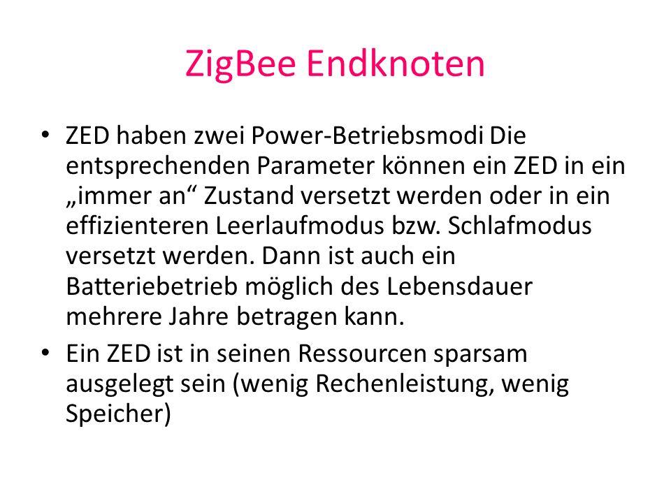 ZigBee Endknoten