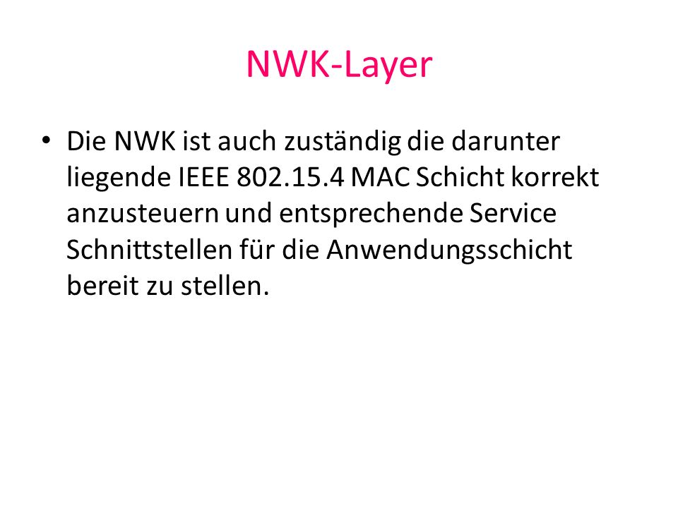 NWK-Layer