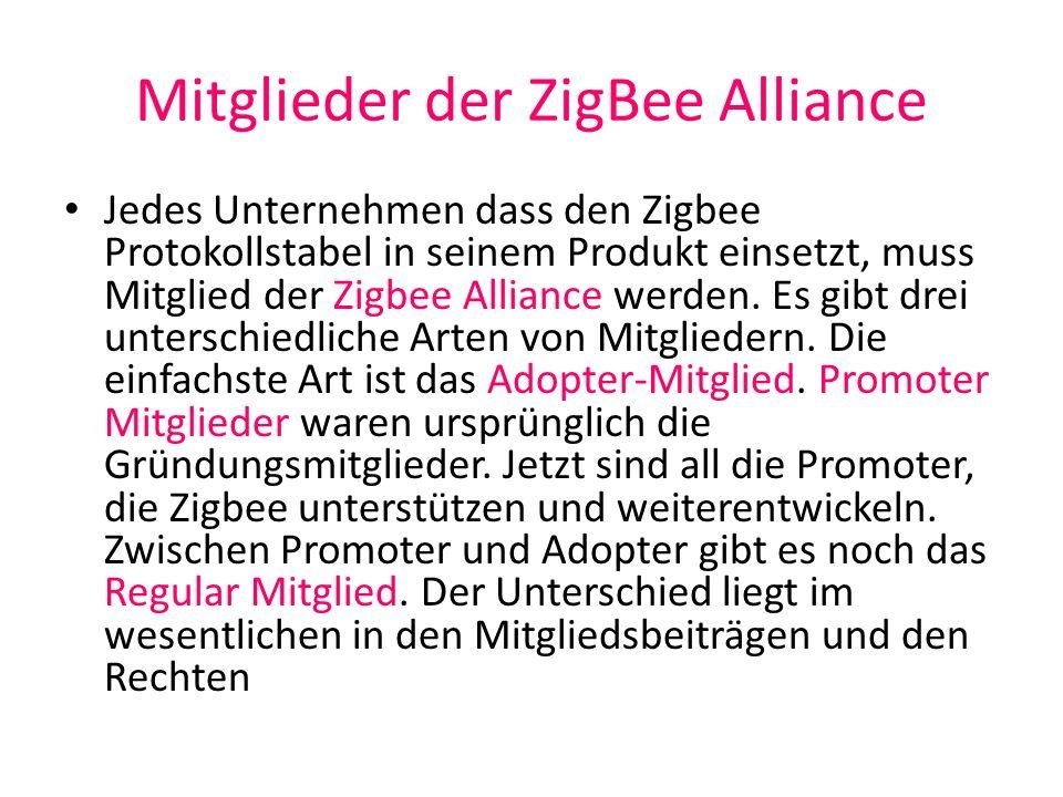 Mitglieder der ZigBee Alliance