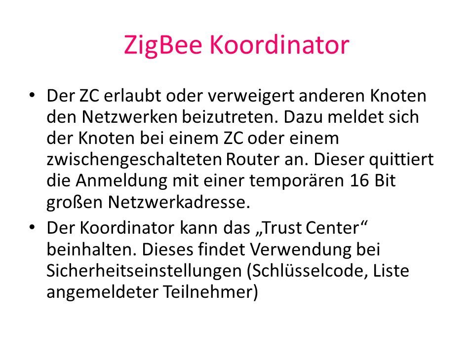 ZigBee Koordinator