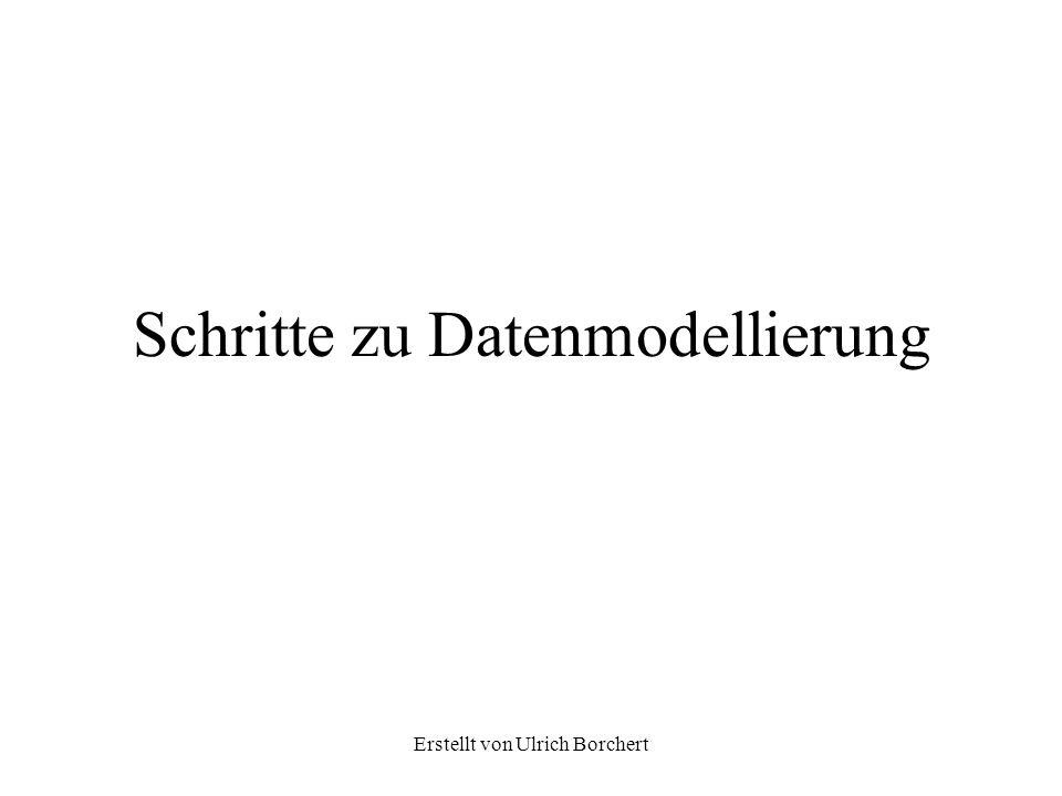 Schritte zu Datenmodellierung
