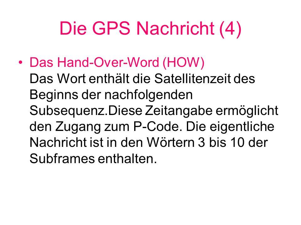 Die GPS Nachricht (4)