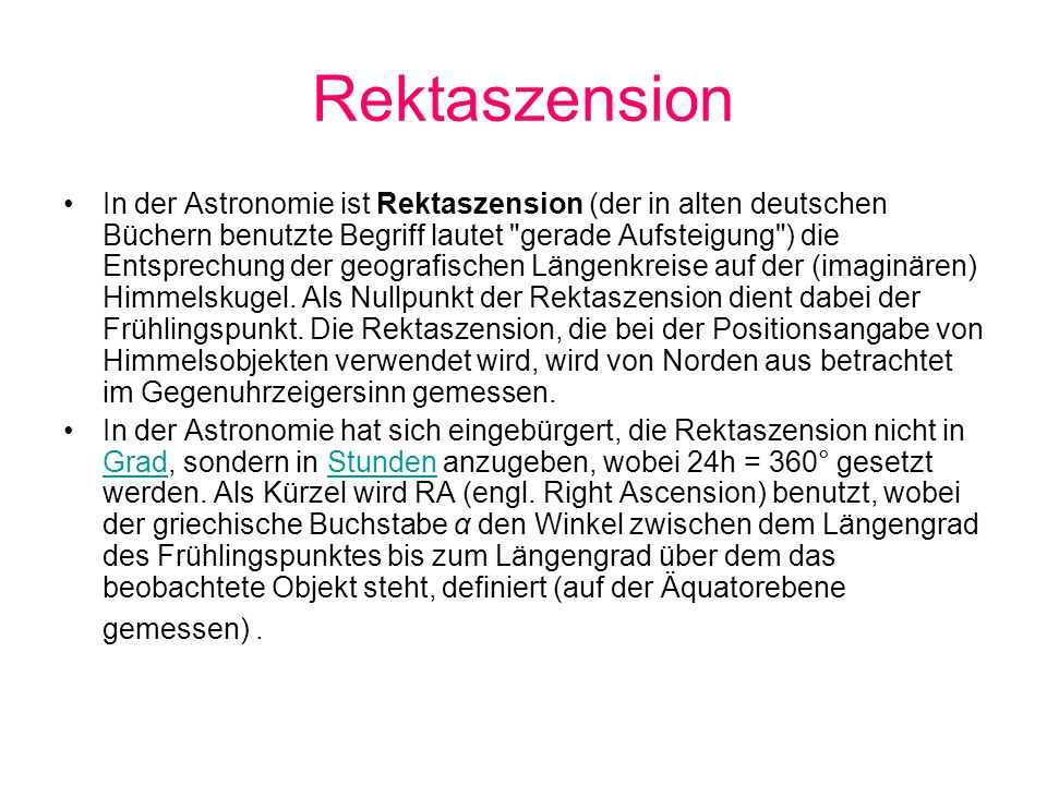 Rektaszension
