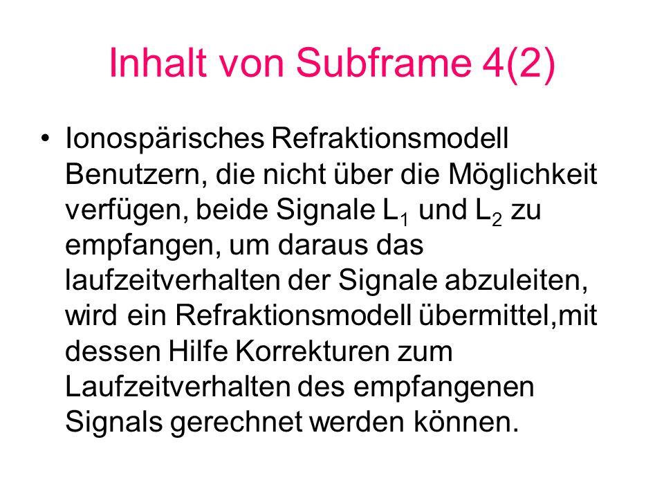 Inhalt von Subframe 4(2)