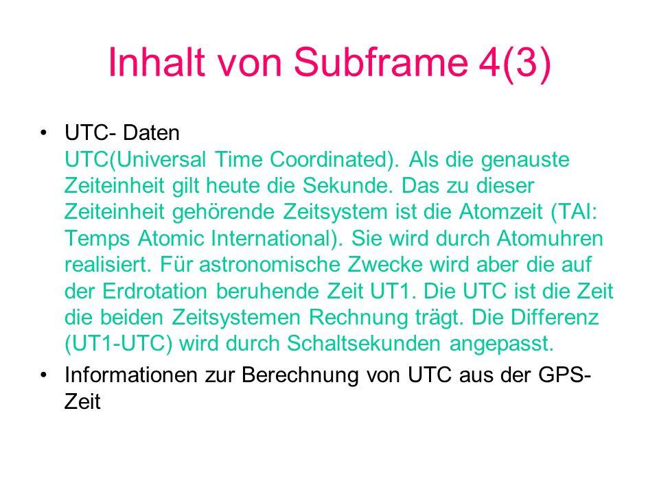 Inhalt von Subframe 4(3)