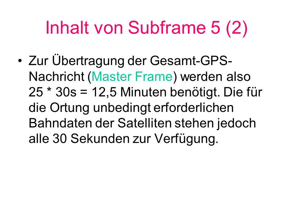 Inhalt von Subframe 5 (2)