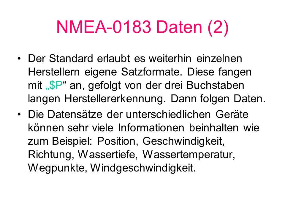NMEA-0183 Daten (2)