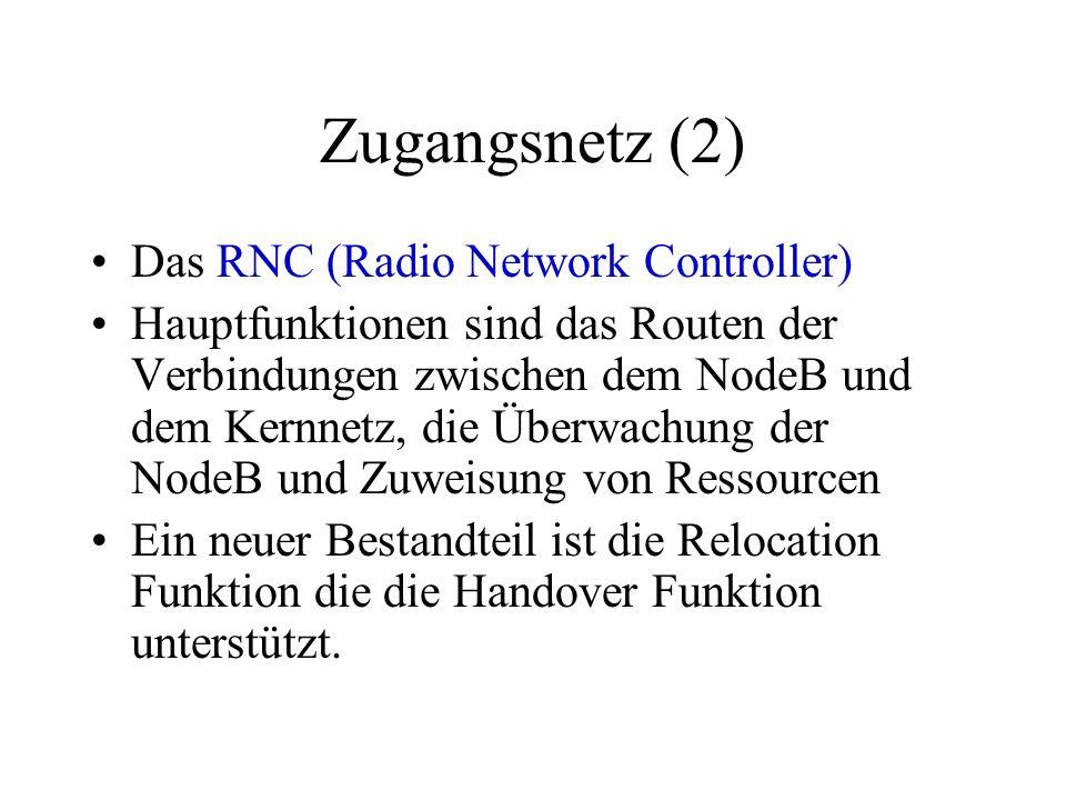 Zugangsnetz (2) Das RNC (Radio Network Controller)