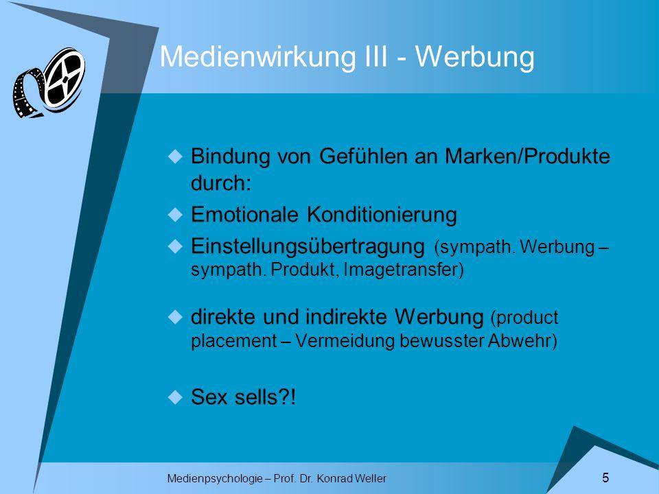 Medienwirkung III - Werbung