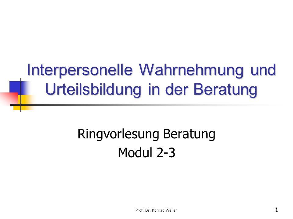 Interpersonelle Wahrnehmung und Urteilsbildung in der Beratung