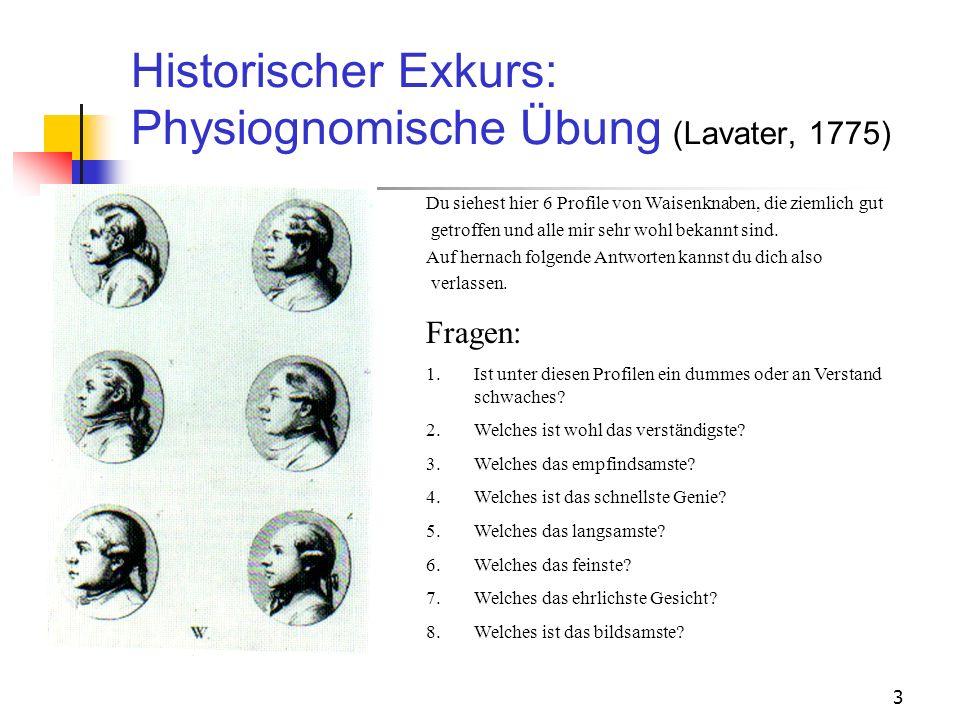 Historischer Exkurs: Physiognomische Übung (Lavater, 1775)