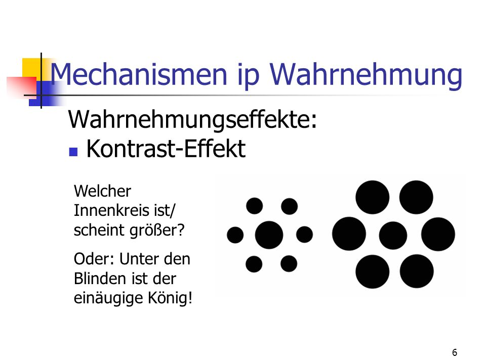 Mechanismen ip Wahrnehmung
