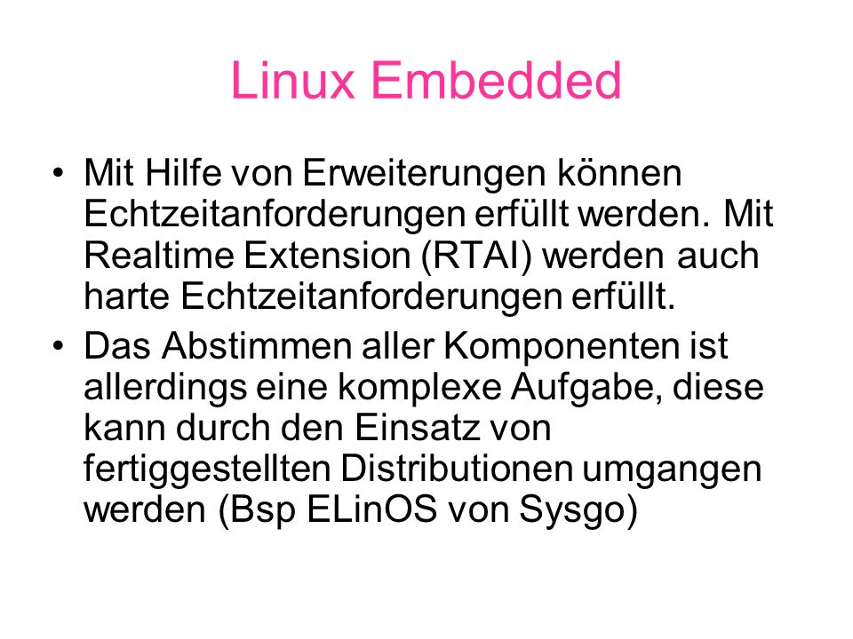 Linux Embedded