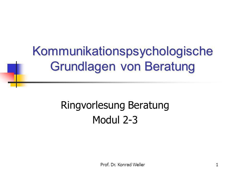 Kommunikationspsychologische Grundlagen von Beratung