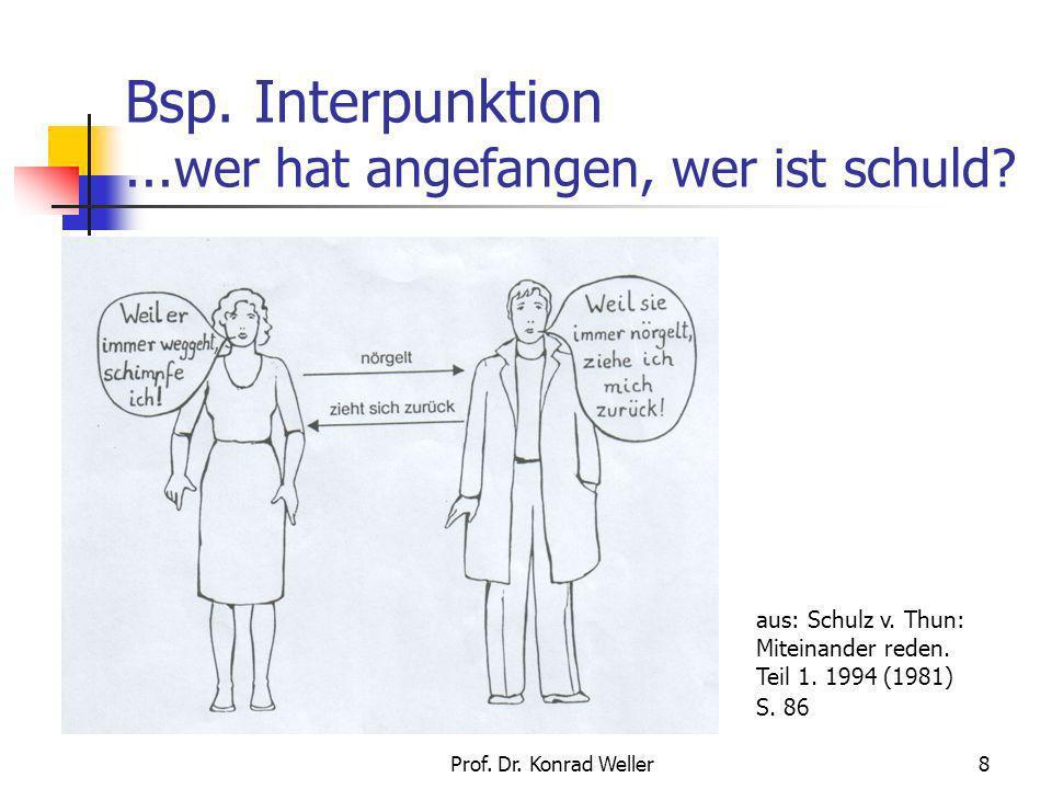 Bsp. Interpunktion ...wer hat angefangen, wer ist schuld