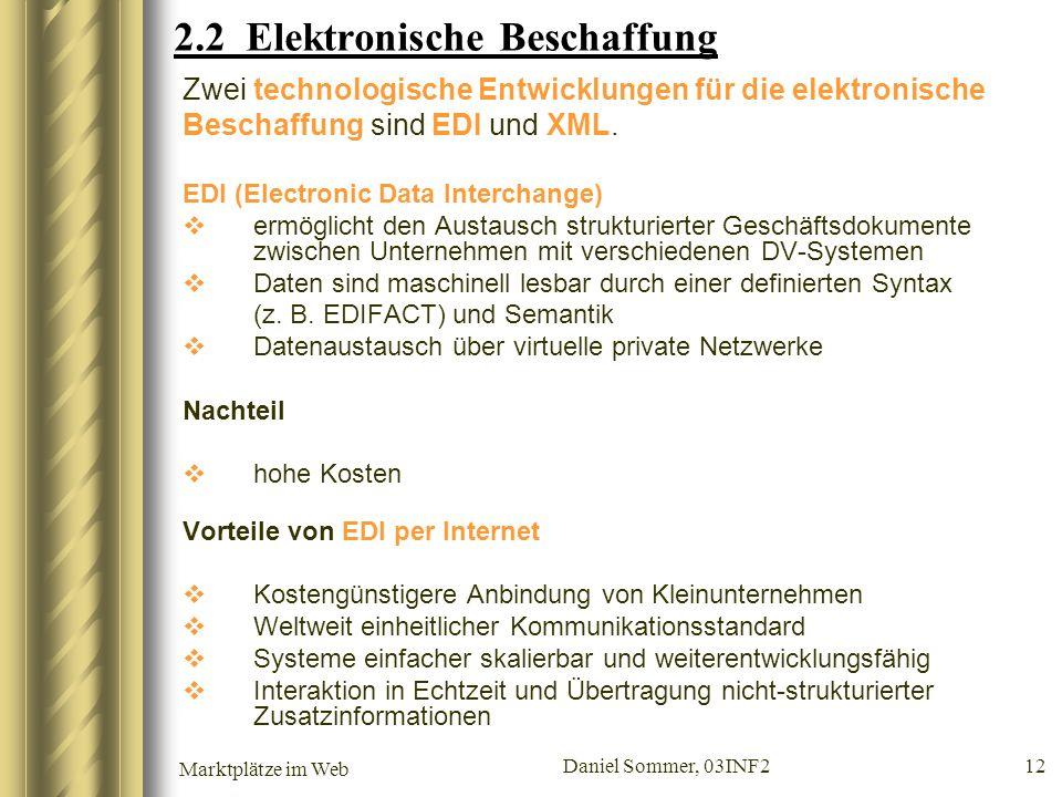 2.2 Elektronische Beschaffung
