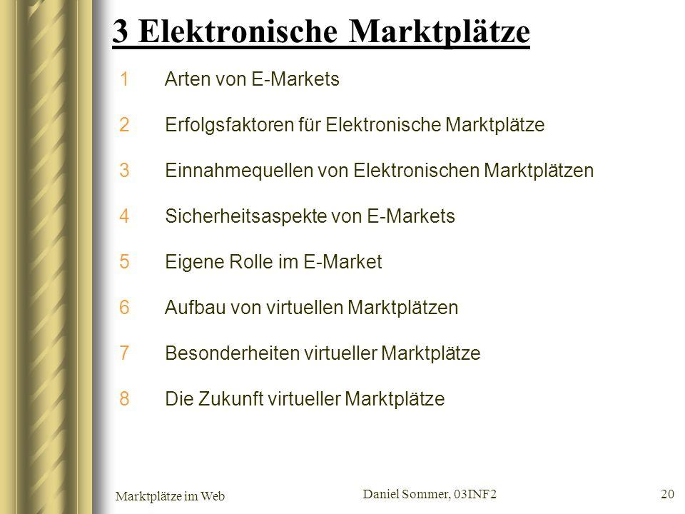 3 Elektronische Marktplätze