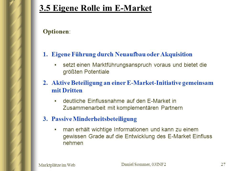 3.5 Eigene Rolle im E-Market