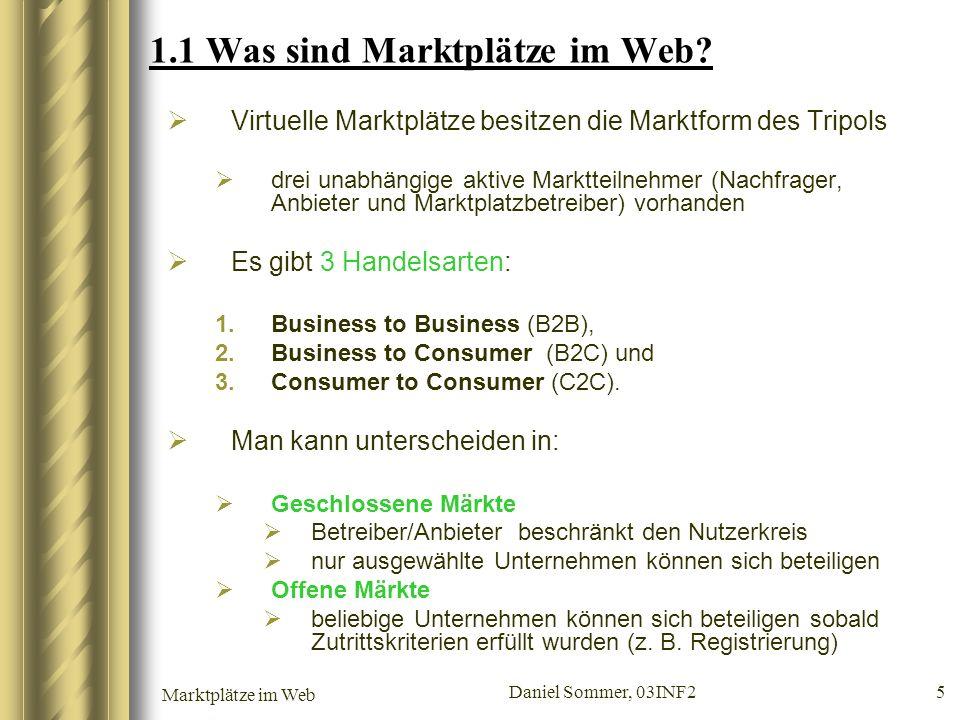 1.1 Was sind Marktplätze im Web