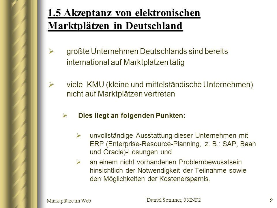 1.5 Akzeptanz von elektronischen Marktplätzen in Deutschland