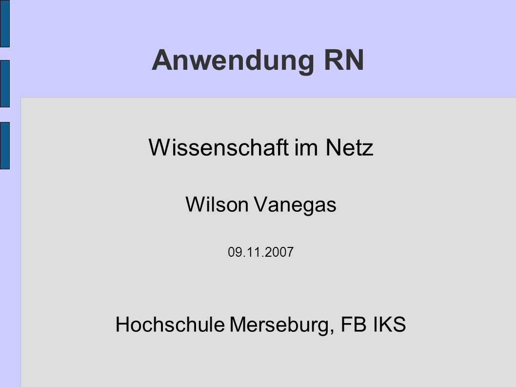 Hochschule Merseburg, FB IKS