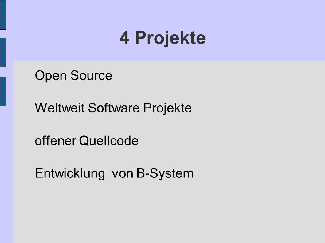 4 Projekte Open Source Weltweit Software Projekte offener Quellcode
