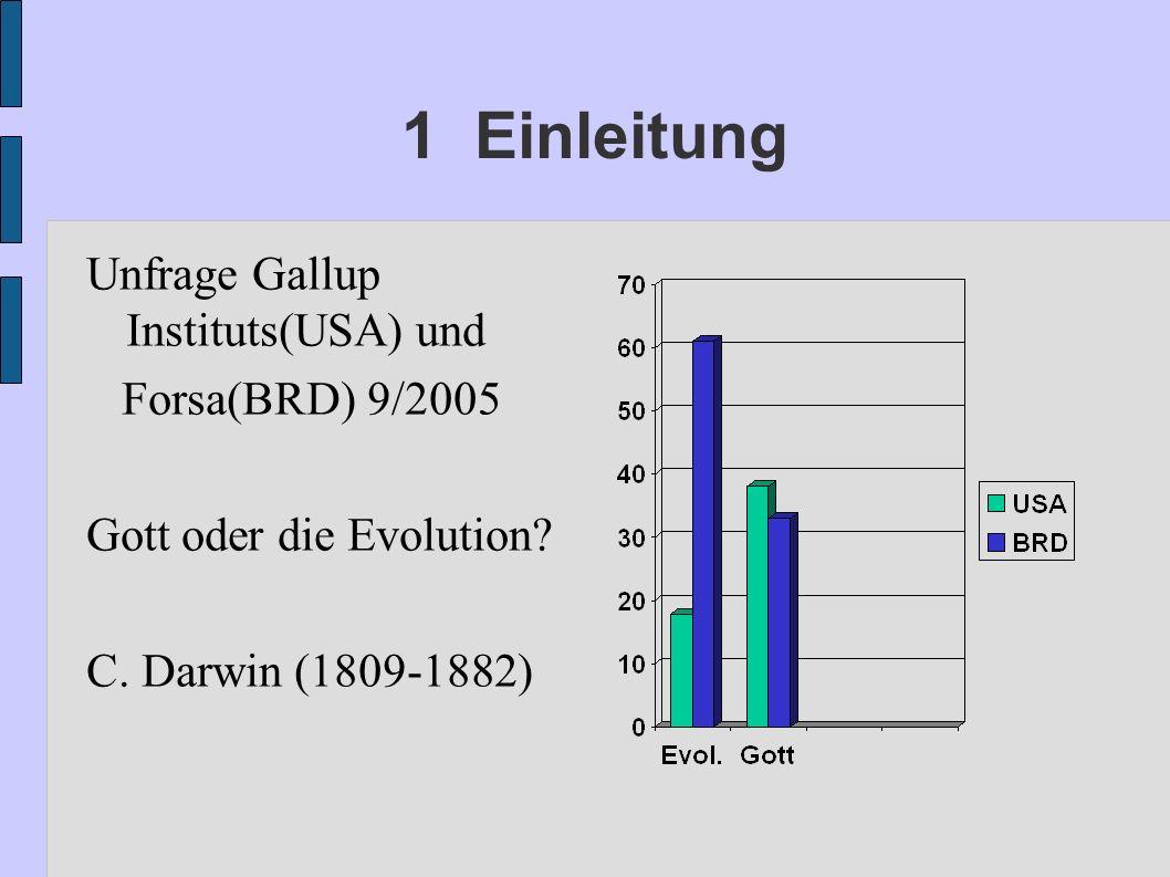 1 Einleitung Unfrage Gallup Instituts(USA) und Forsa(BRD) 9/2005