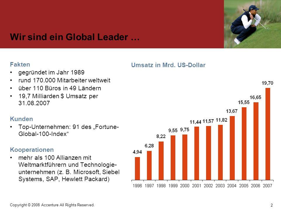Wir sind ein Global Leader …