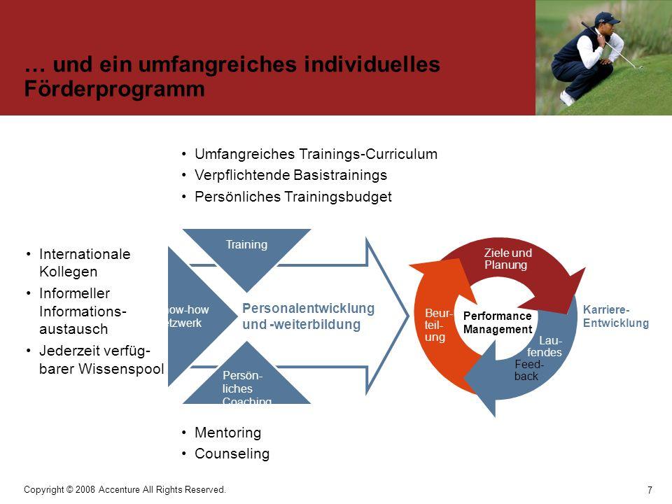 … und ein umfangreiches individuelles Förderprogramm