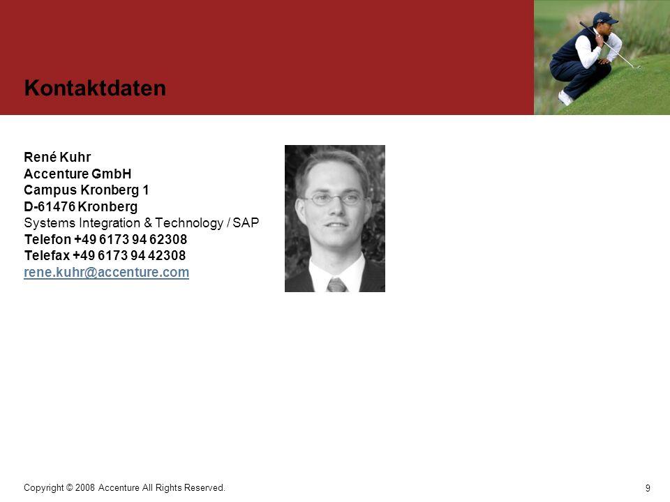 Kontaktdaten René Kuhr Accenture GmbH Campus Kronberg 1