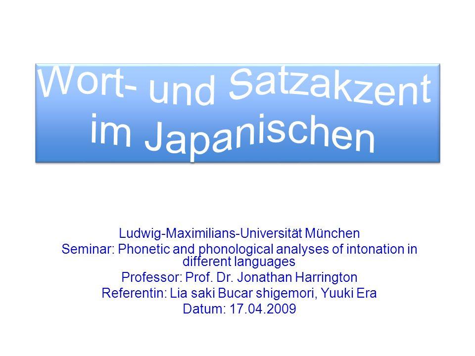 Wort- und Satzakzent im Japanischen