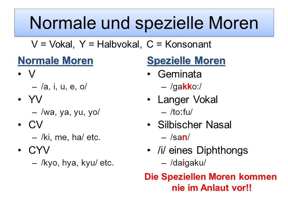Normale und spezielle Moren